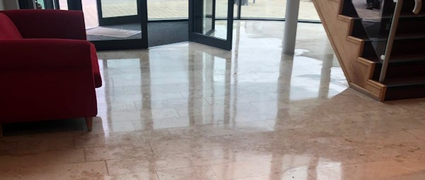 clean and polished marble floor